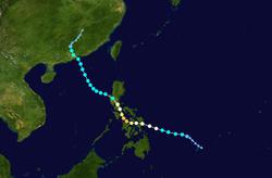 台风风神的路径图