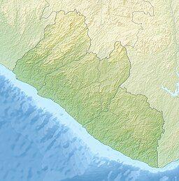 武蒂维峰在利比里亚的位置
