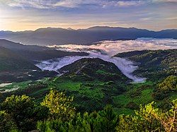 Overlooking the Maligcong Rice Terraces in Bontoc(英语:Bontoc, Mountain Province)
