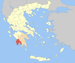 Messenia within Greece