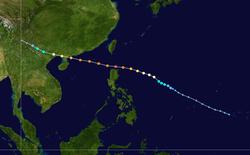 超强台风莎莉的路径图