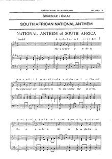 South African national anthem (1997), Government Gazette of South Africa.pdf