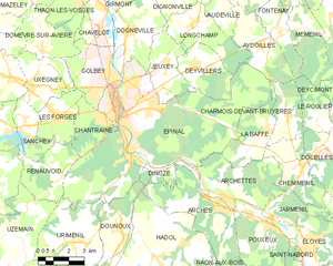 埃皮纳勒市镇地图