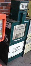 Tampa Bay Times newspaper rack