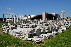The ancient Greek city of Smyrna in Anatolia