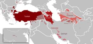 Oghuz Turkic Languages distribution map.png
