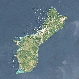 闪电山在Guam的位置