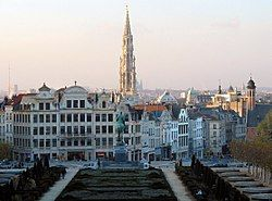 Panorama of the city centre from the Mont des Arts/Kunstberg