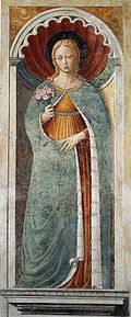 Painting of Saint Fina by Benozzo Gozzoli, 1464 to 1465.