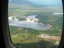 Saltos Golondrina and Ucaima at Canaima Lagoon.jpg