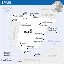 西班牙的位置