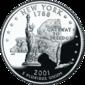 New York quarter dollar coin