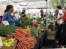 市场里的蔬菜商