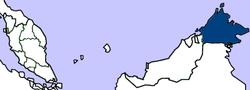 North Borneo的位置