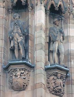 David Hume and Adam Smith statues, Edinburgh.jpg