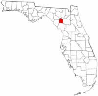 佛罗里达州吉尔克里斯特县地图