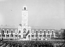 Inaugurazione Littoria with massed parade in 1932