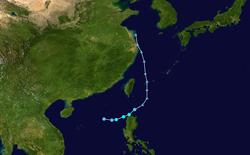 热带低压WP132018的路径图