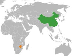 中国和津巴布韦在世界的位置