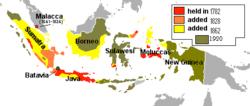 荷属东印度扩张图