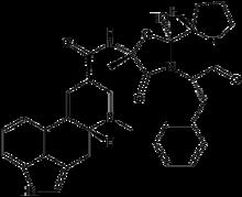 (6aR,9R)-N-((2R,5S,10aS,10bS)-5-benzyl-10b-hydroxy-2-methyl-3,6-dioxooctahydro-2H-oxazolo[3,2-a] pyrrolo[2,1-c]pyrazin-2-yl)-7-methyl-4,6,6a,7,8,9-hexahydroindolo[4,3-fg] quinoline-9-carboxamide
