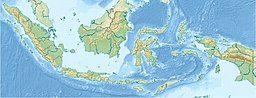 默拉皮火山在印度尼西亚的位置