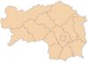 施泰尔马克州县级行政区地图