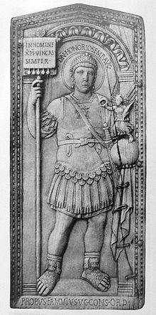 Grey illustration of Honorius