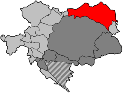 1914年加利西亚和洛多梅里亚在奥匈帝国的位置