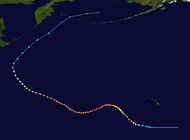Path of a tropical cyclone