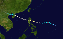 台风纳沙的路径图