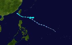 台风艾莎尼的路径图