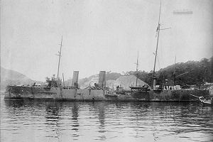 IJN despatch vessel CHIHAYA in 1906.jpg