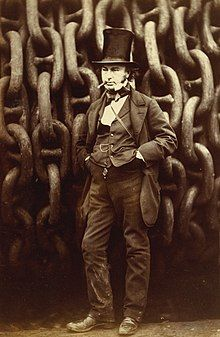 Robert Howlett (Isambard Kingdom Brunel Standing Before the Launching Chains of the Great Eastern), The Metropolitan Museum of Art (cropped).jpg