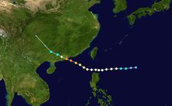 超强台风露比的路径图