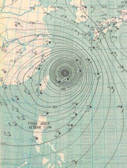 1956年8月1日的天气图