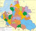1619年波兰立陶宛联邦行政区划地图