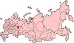 Map showing Komi-Permyakia in Russia