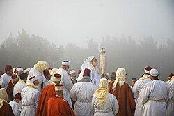 Samaritans on Mount Gerizim during Passover