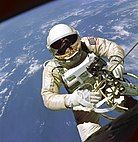 Ed White during the Gemini 4 mission