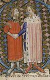 David II, King of Scotland and Edward III, King of England (British Library MS Cotton Nero D VI, folio 66v).jpg