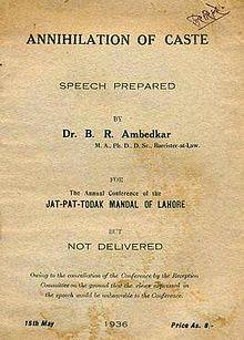 First edition of Annihilation of Caste.jpg