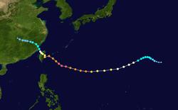 超强台风海棠的路径图