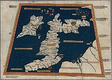 Ptolomy's historical map of Roman Britain