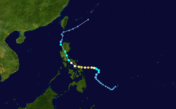 强台风黄蜂的路径图
