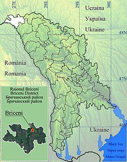 Location of Briceni District