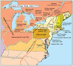 纽约省地图