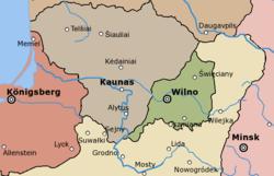中立陶宛共和国领土(绿色部分)