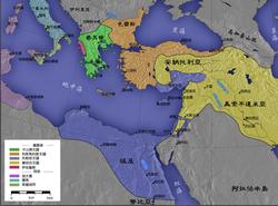 托勒密王国为图中蓝色疆域