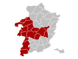 哈瑟尔特区在林堡省的位置
